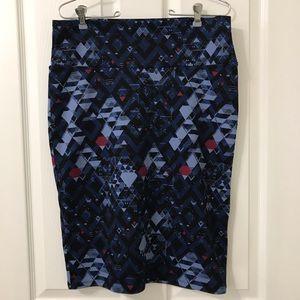 LuLaRoe Pencil Skirt with Yoga Waistband Size L
